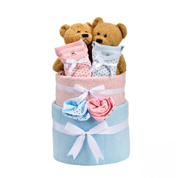 חבילה לתאומות - בייבי קייק משולב -5856