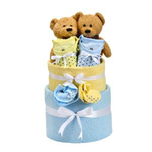 חבילה לתאומים – בייבי קייק משולב לתאומים בן ובת