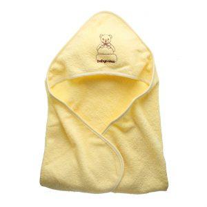 מגבת קפוצ'ון לתינוק צהוב