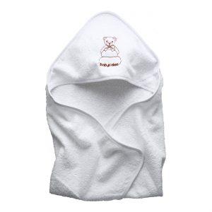 מגבת קפוצ'ון לתינוק לבן
